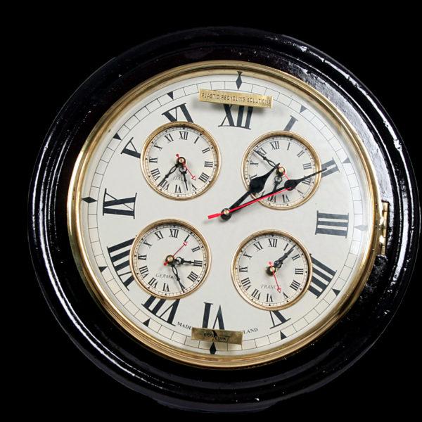Wall Clock Antique-black